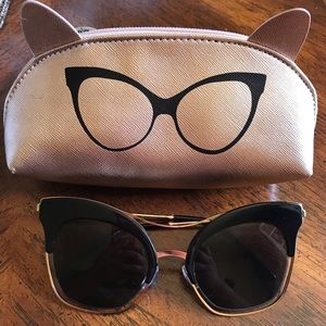 Cateye Sunglasses with Case